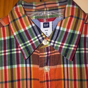 Boys Gap Plaid Button Down Shirt